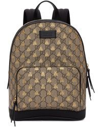 39d15a0b217 Gucci - Brown GG Supreme Bestiary Backpack - Lyst