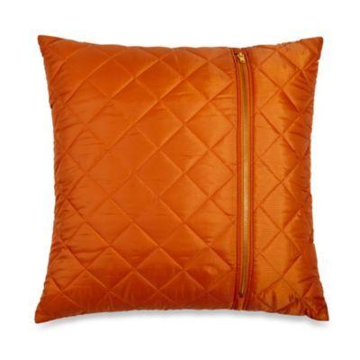 Ski Jacket Toss Pillow in Orange - BedBathandBeyond.com