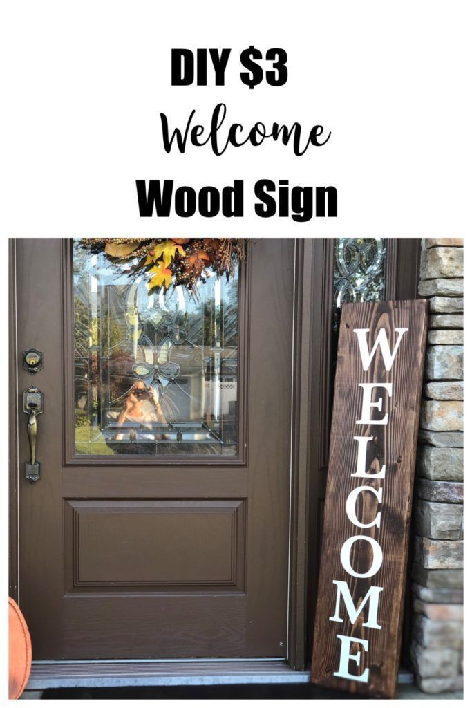 Photo of DIY $3 Welcome Sign – Frugally Fantastic