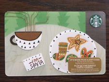 "Canada Series Starbucks ""GINGERBREAD LATTE 2017"" Gift Card"