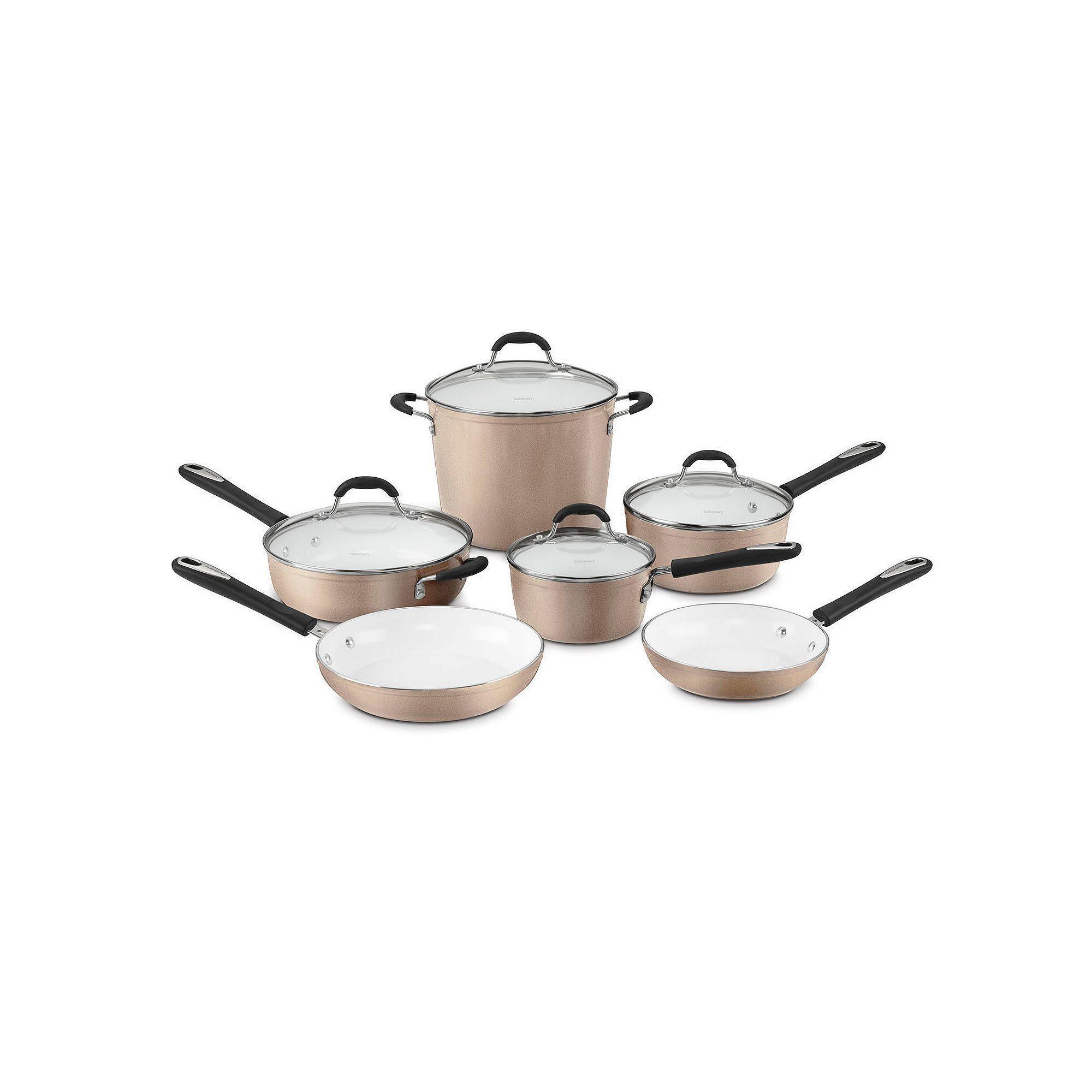 Cuisinart Elements 10 Pc Non Stick Ceramic Cookware Set Products Cookware Set Cookware Cuisinart Cookware