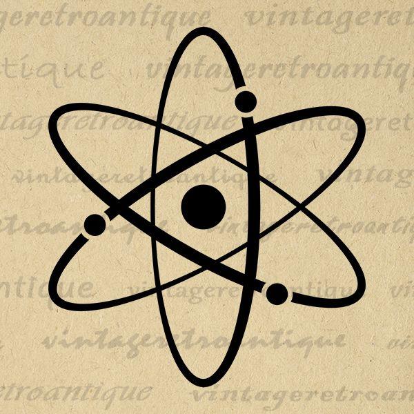 Printable Atomic Symbol Image Graphic Download Atoms Science