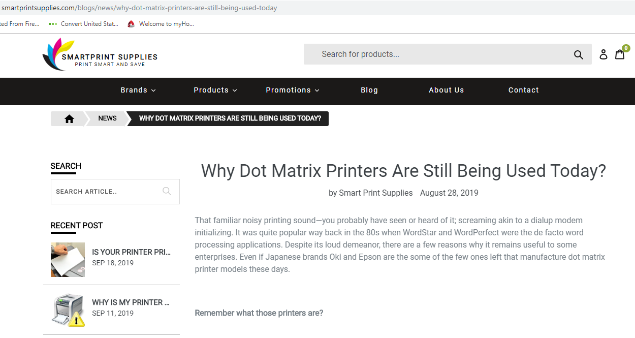 Why Dot Matrix Printers Are Still Being Used Today? Pos