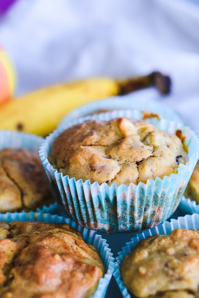 Apfel Bananen Muffins Gesundes Rezept Perfekt Fur Kinder Bananen Muffins Muffins Gesund Backen Fur Kleinkinder