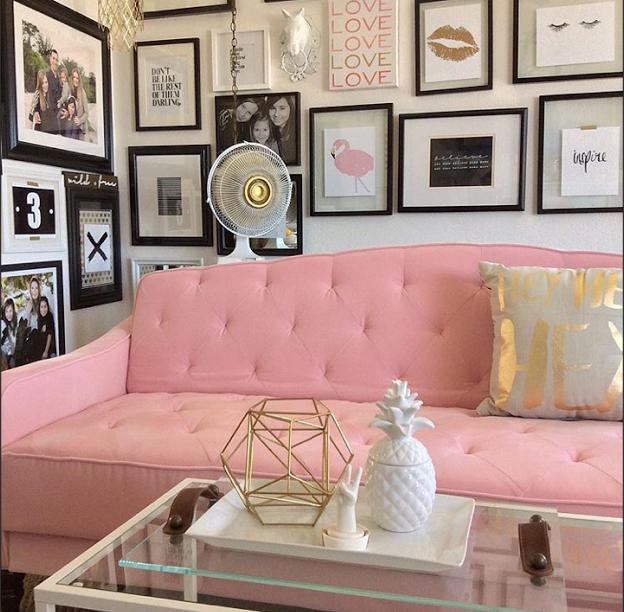 9 By Novogratz Vintage Tufted Sofa Sleeper Ii Multiple Colors Navy Velour Walmart Com Pink Living Room Affordable Home Decor Home