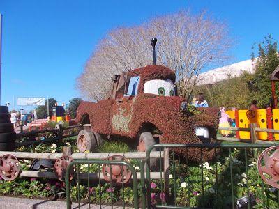 Blog for a travelin' man: 2014 Epcot International Flower and Garden show --- disney * cars * Mater