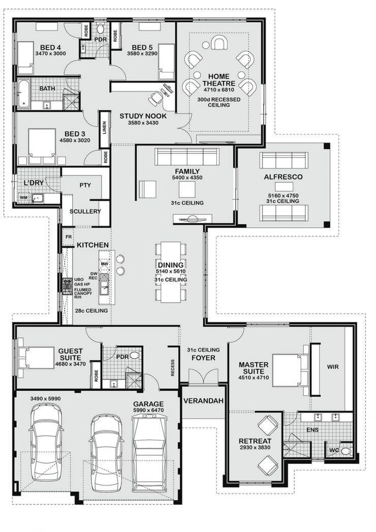 Floor Plan Friday 5 Bedroom Entertainer Bedroom Bodenbelag Entertainer Floor Friday Plan House Plans Australia 5 Bedroom House Plans House Plans