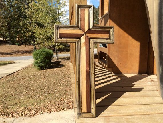 diy wooden cross designs, Large Handmade Wood Cross, Wooden Cross, Distressed Wall
