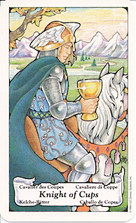 Knight of Cups Knight of Cups Sorcerers Tarot represents change and