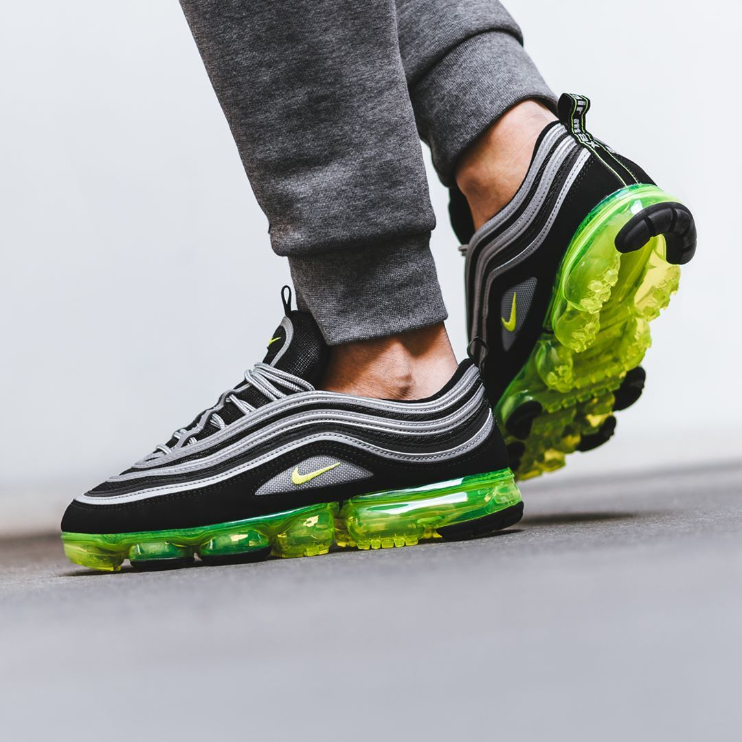 best cheap 60de5 58e50 Nike Air VaporMax 97 Black / Volt | Shoes | Nike air ...