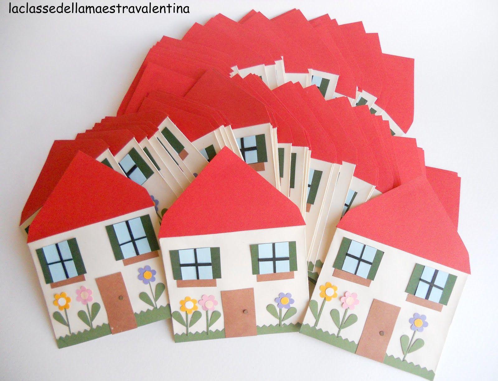 la classe della maestra valentina casette di carta una passione valentina pinterest craft