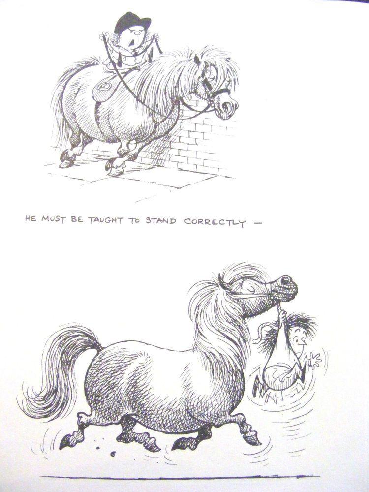 Norman Thelwell Humorous Original Vintage Art Print Riding