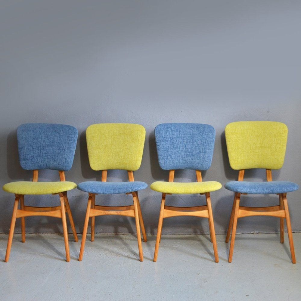 For Sale Set Of 4 Vintage Dining Chairs 1950s