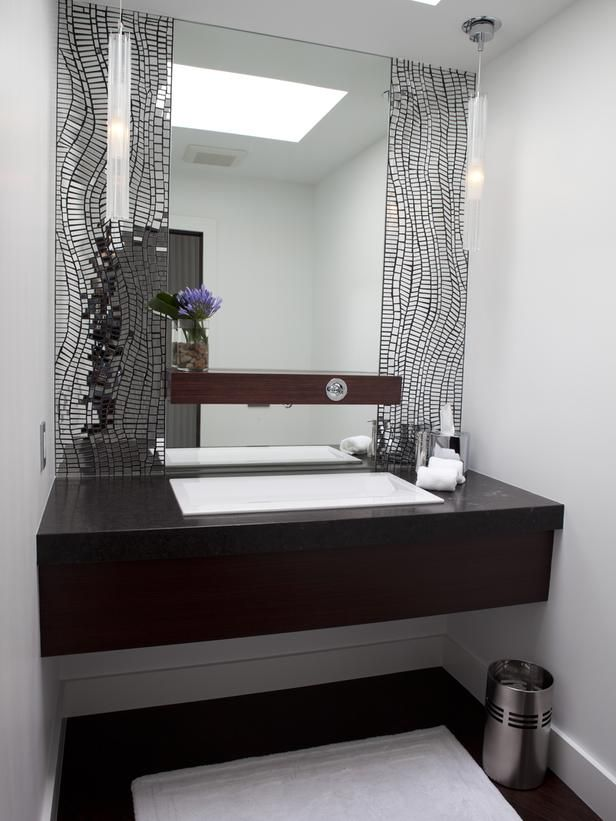 Photography Gallery Sites Note shelf on mirror Contemporary Bathrooms Velvet Hammerschmidt Designer Portfolio HGTV