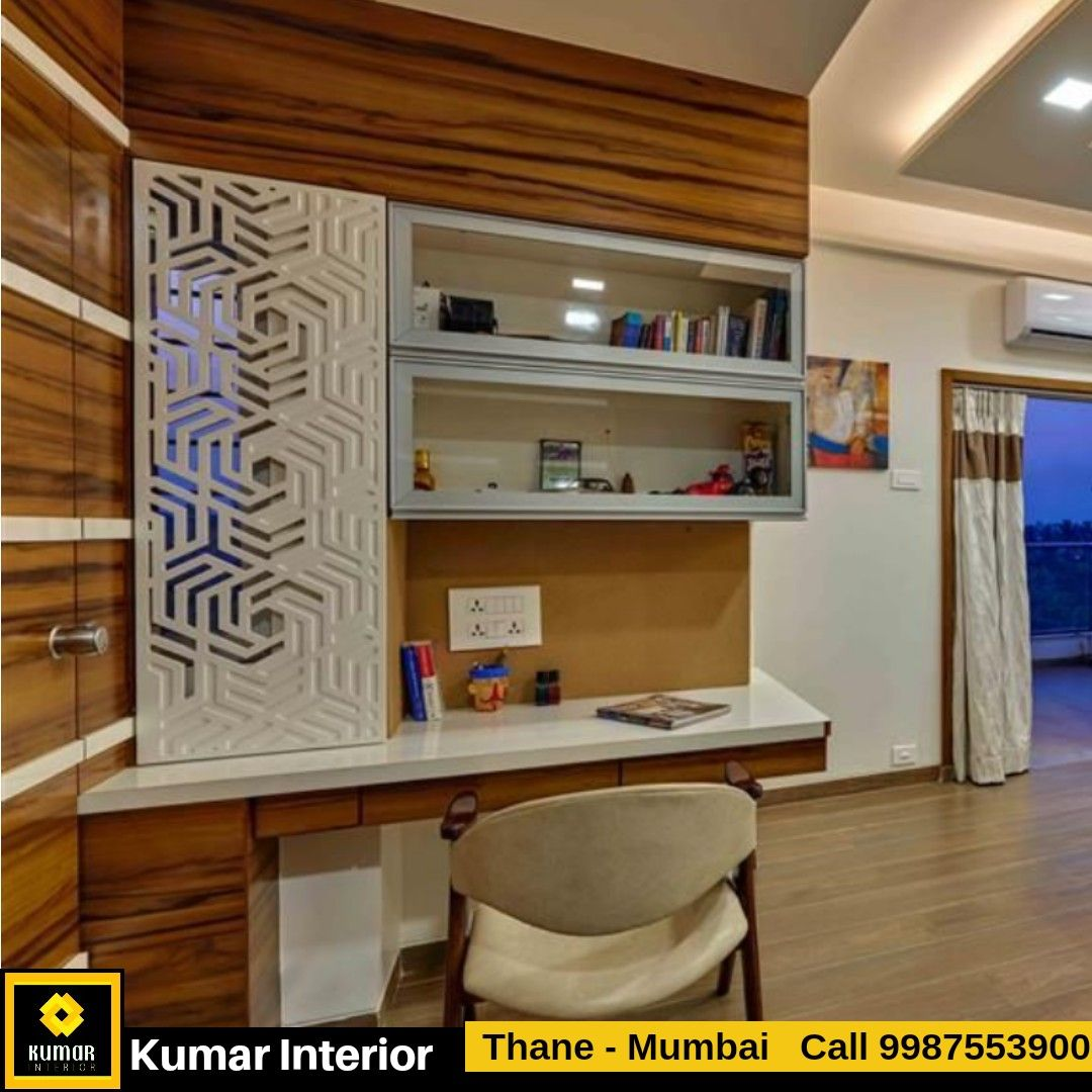 Study Table Design In Bedroom Design By Kumar Interior Ongoing 3bhk Interior Project Dosti Imperia Manpada Th Interior Wall Design Study Table Designs Interior