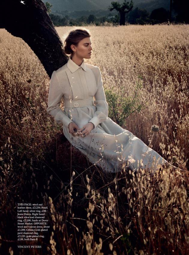 A Fendi FW15 dress featured in Harper's Bazaar UK.