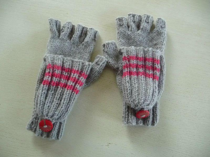 Comment tricoter des mitaines avec pouce   accessoires   Pinterest   Comment tricoter, Mitaines ...