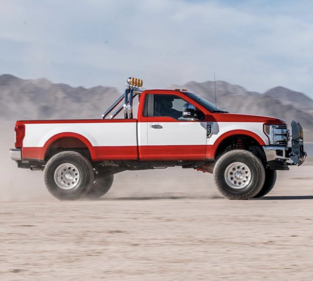 Retro Paint Job In New Ford Truck With Images Ford Trucks New