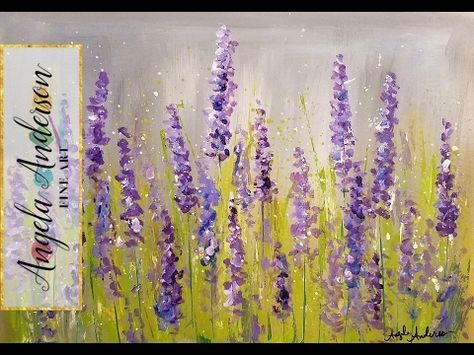 Easy Lavender Painting With Cotton Swabs
