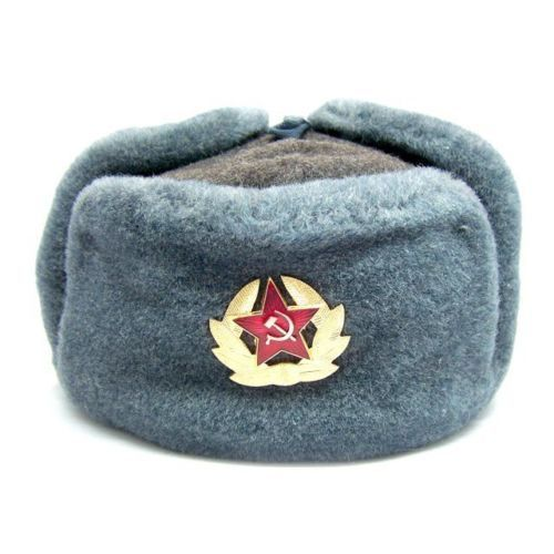 e6c57394b18 Details about Authentic Soviet and Russian soldier army hat ushanka ...