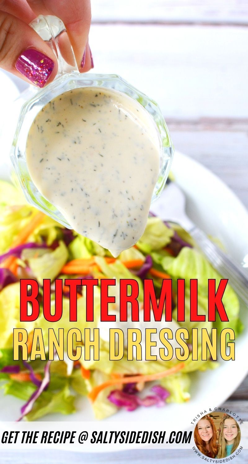 Buttermilk Ranch Dressing In 2020 Buttermilk Ranch Dressing Ranch Dressing Buttermilk Ranch Dressing Recipe