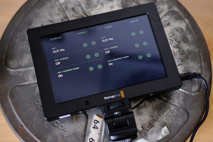 블랙 매직보기 4K XLR 컨트롤을 지원