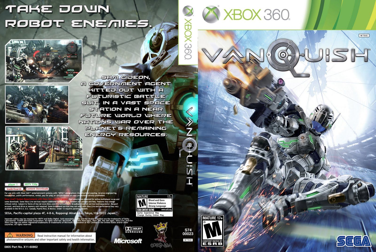 VANQUISH PS3 XBOX 360 Japan Sega Game Music Original SOUNDTRACK 3 CD set NEW