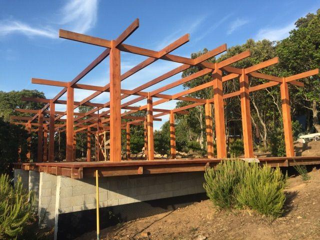 Fondation du0027une maison bois Mobiteck  constructeur bungalow kit - construire sa maison en guadeloupe