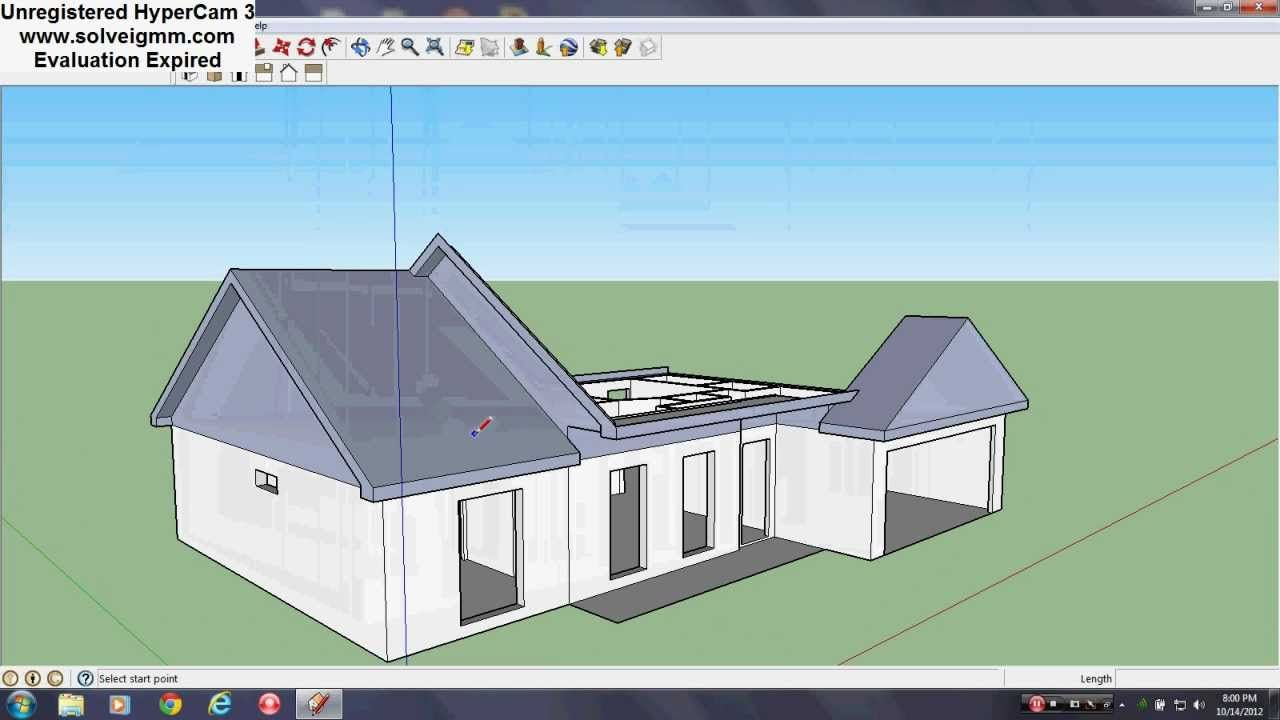 Sktchup House Tutorial Pt 3 Roof Video By Superpalamara On