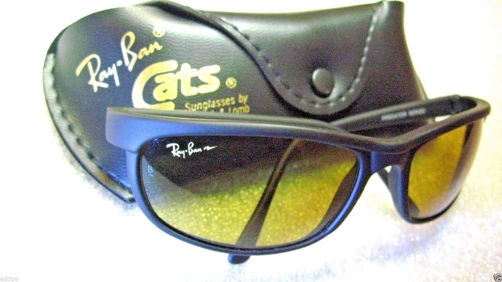 ca9d7e26695588 NOS VINTAGE RAY-BAN B L CHROMAX PREDATOR PS2 CATS W2050 4-DRIVING NEW  SUNGLASSES