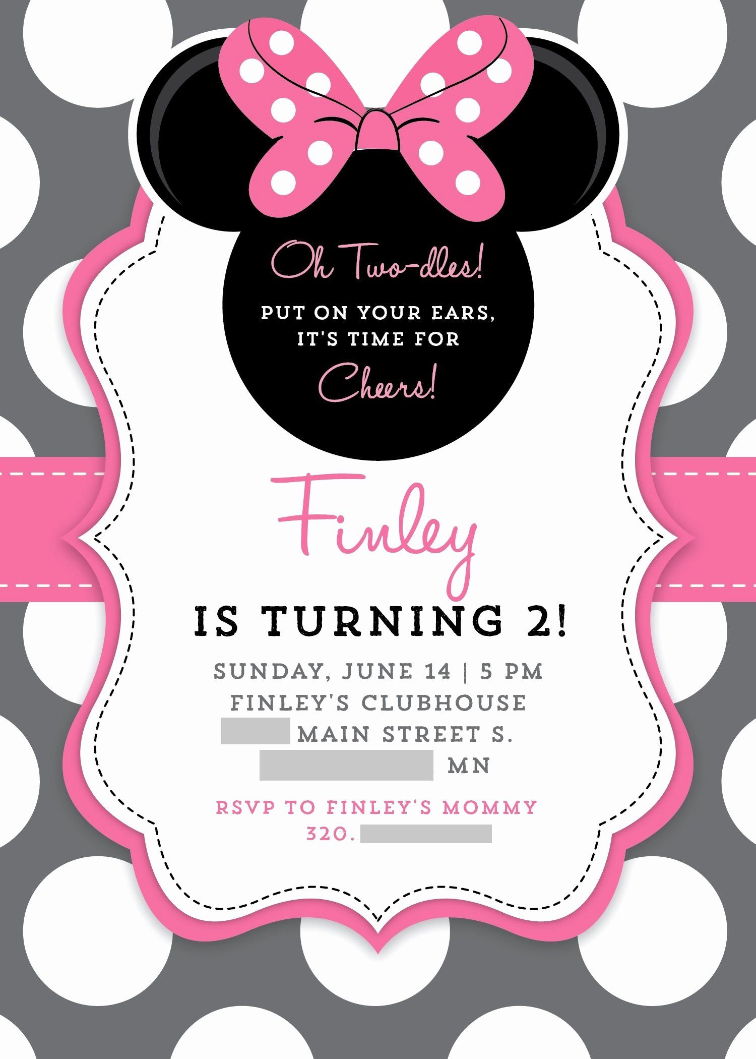 Minnie Mouse Party Invitations Harlem Printable Invitations Minnie Mouse Birthday Invitations Mickey Mouse Birthday Invitations Minnie Mouse Invitations