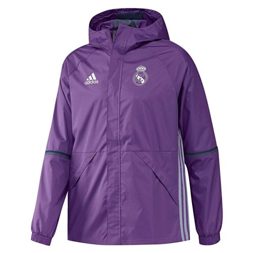54020dc01 adidas Men s Real Madrid 16 17 All Weather Jacket Purple
