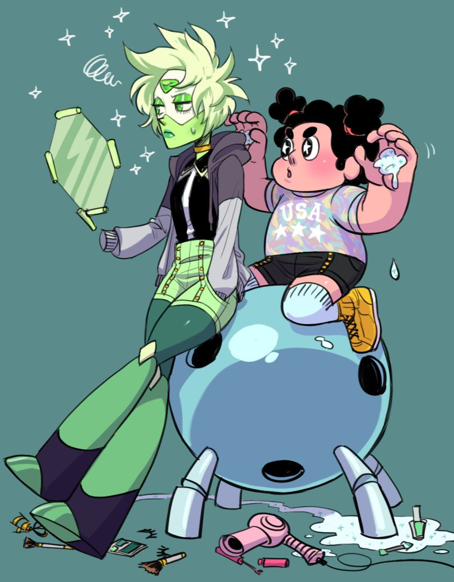 Peridot loves makeovers as you can tell~ Jasper's makeover Lapis's makeover Amethyst's makeover Pearl's makeover Garnet's makeover Ruby & Sapphire's Makeover