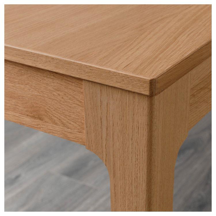 EKEDALEN oak, Extendable table, Min