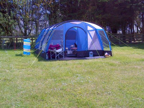 Camping in Dorset - The tent in which some of Saving Anna was written. #amwriting http://bit.ly/roomtowrite
