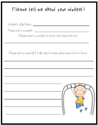 """""""Please tell me about your child and family"""" freebie!  You will be amazed what your families will tell you before school even starts!"""