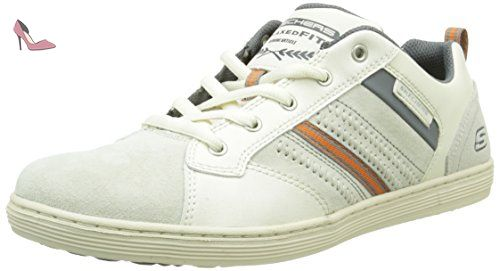 Skechers Sorino Evole, Baskets Basses Homme, Blanc, 45 EU - Chaussures  skechers (