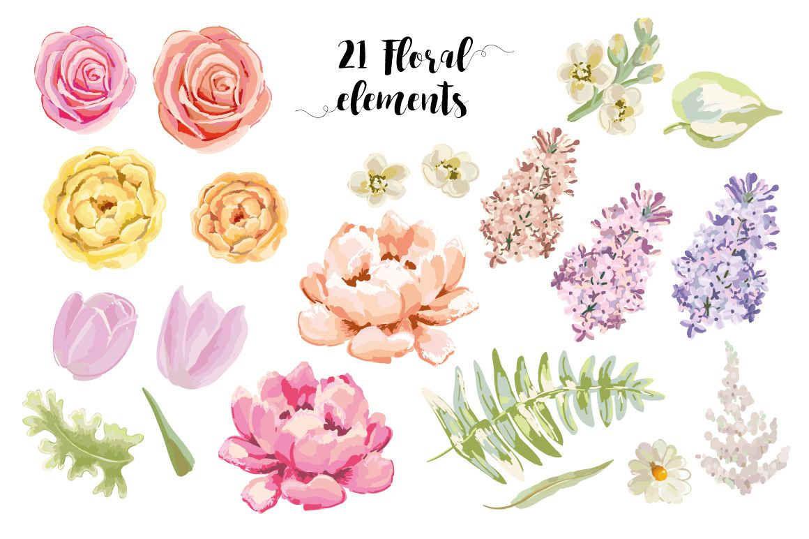 Sweet flowers by OJardin on @creativemarket