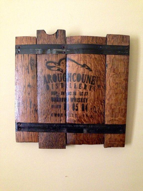 Wood Barrel Wall Decor : Bourbon whiskey barrel art decor