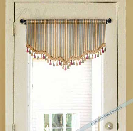 Carolina Valance For French Door Or Narrow Window Door Coverings Window Treatments Custom Valances