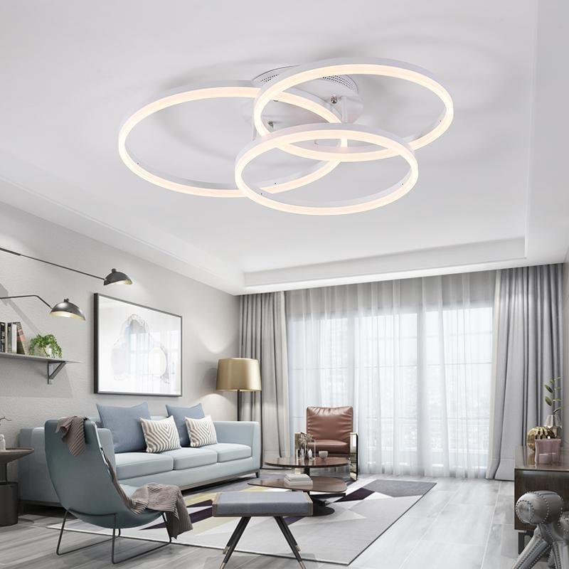 Track Lighting Living Room: Led Ceiling Light Round Living Room Lamp Simple Modern