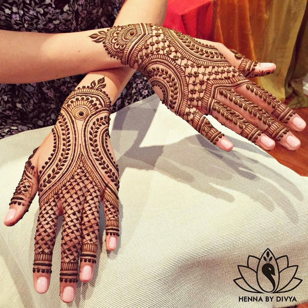 """""""Bridal #henna for the beautiful (and I must say unique!) Neha. She chose to go with this design by @maplemehndi. If you know me, you know I love…"""""""