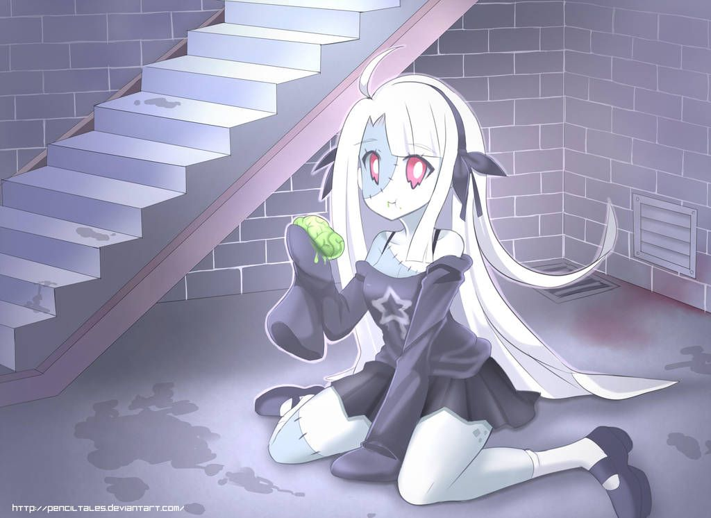 Cute Zombie Girl Living In Your Basement By Pixitales Cute Zombie Zombie Girl Anime Zombie