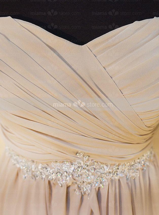 Chiffon Empire Waist Sweetheart Wedding Dress