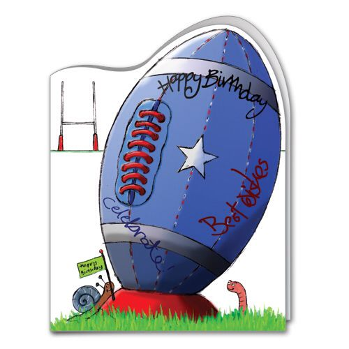Any Rugby Fan Will Love This Card Rugby Birthday Kids Birthday Cards Birthday Cards For Boys