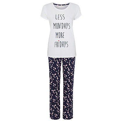 Less Mondays Dressing Gown and Pyjama Set   Women   George at ASDA ...