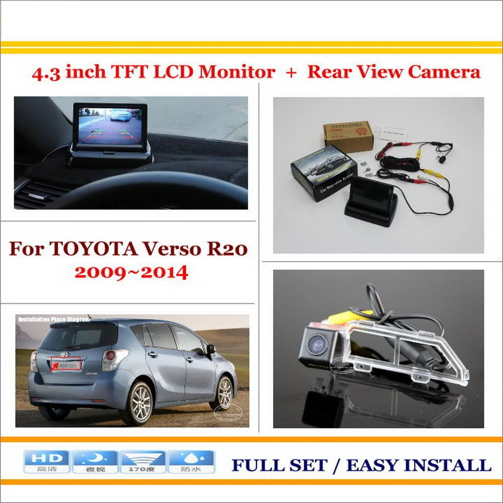 For Toyota Verso R20 2009 2014 Car Reverse Backup Rear Camera