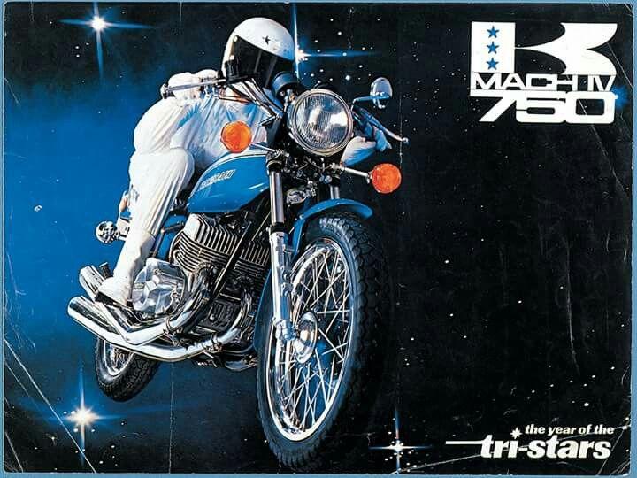 Kawasaki 740 Mach Iv Kawasaki Bikes Kawasaki Classic Kawasaki