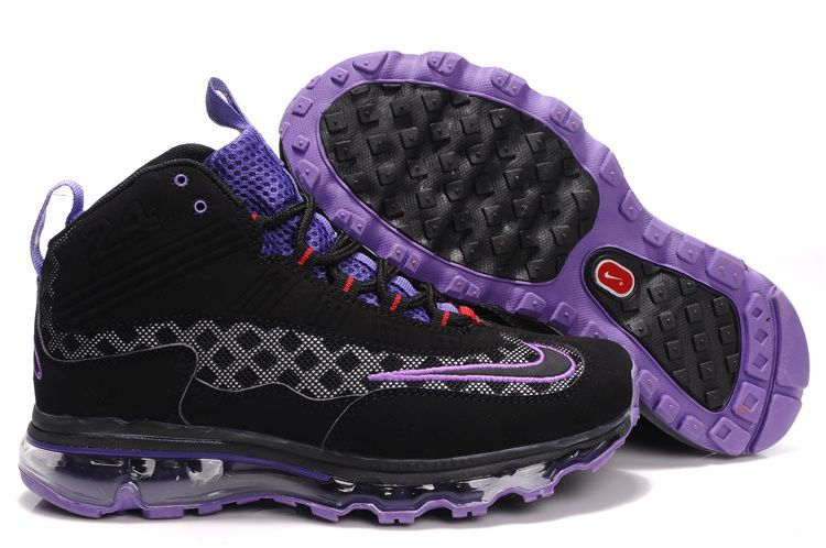 premium selection 25f3f f9722 Nike Womens Griffeys Air Max Jr Black Purple Ken Griffey Shoes