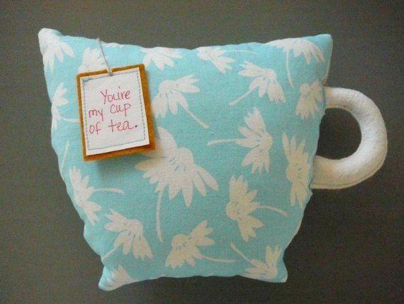 Tea cup pillow